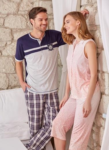 Erkek 3'Lü Pijama - Şort Takımı Dagi